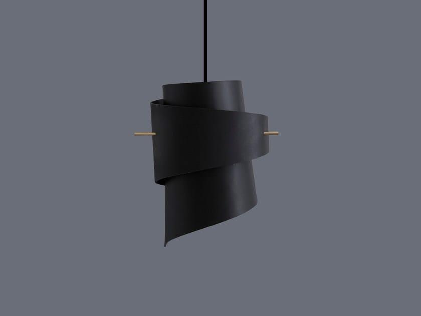 LED handmade leather pendant lamp ML01 MINI LEATHER BLACK by moijn