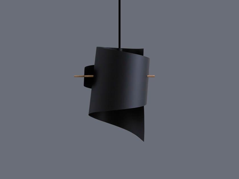 LED handmade plastic pendant lamp ML01 MINI PLASTIC BLACK by moijn