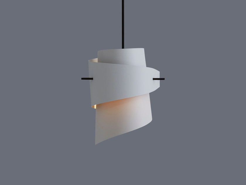 LED handmade plastic pendant lamp ML01 MINI PLASTIC LIGHT GREY by moijn