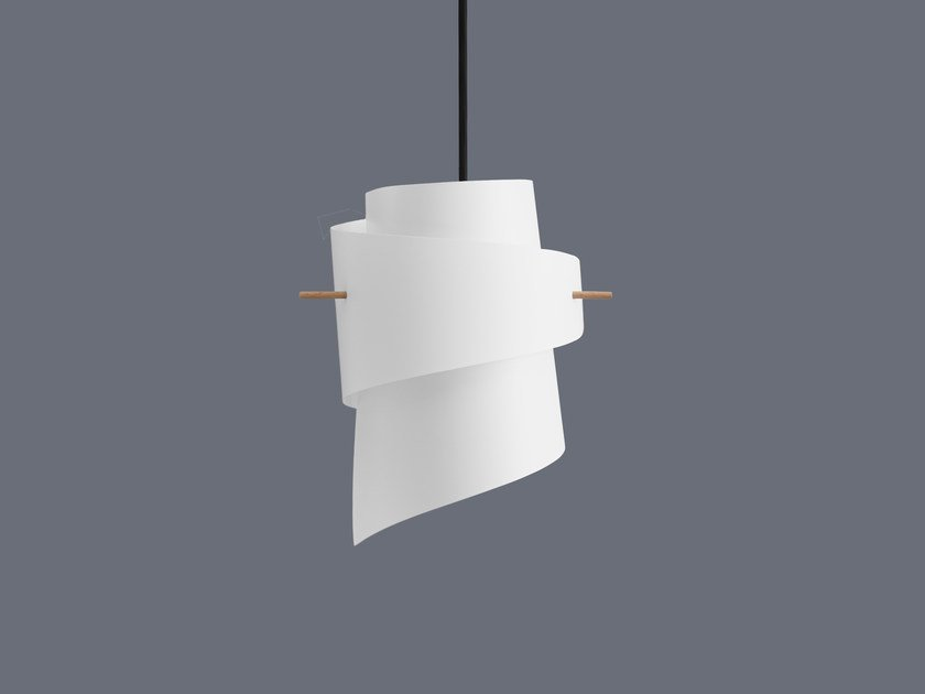 LED handmade plastic pendant lamp ML01 MINI PLASTIC WHITE by moijn