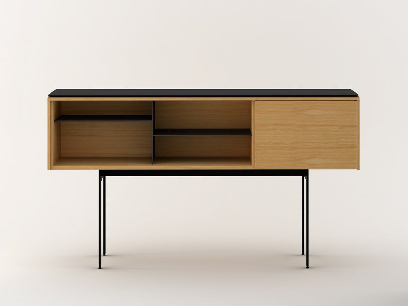 Lacquered sideboard with flap doors MLM311 | Sideboard by Punt
