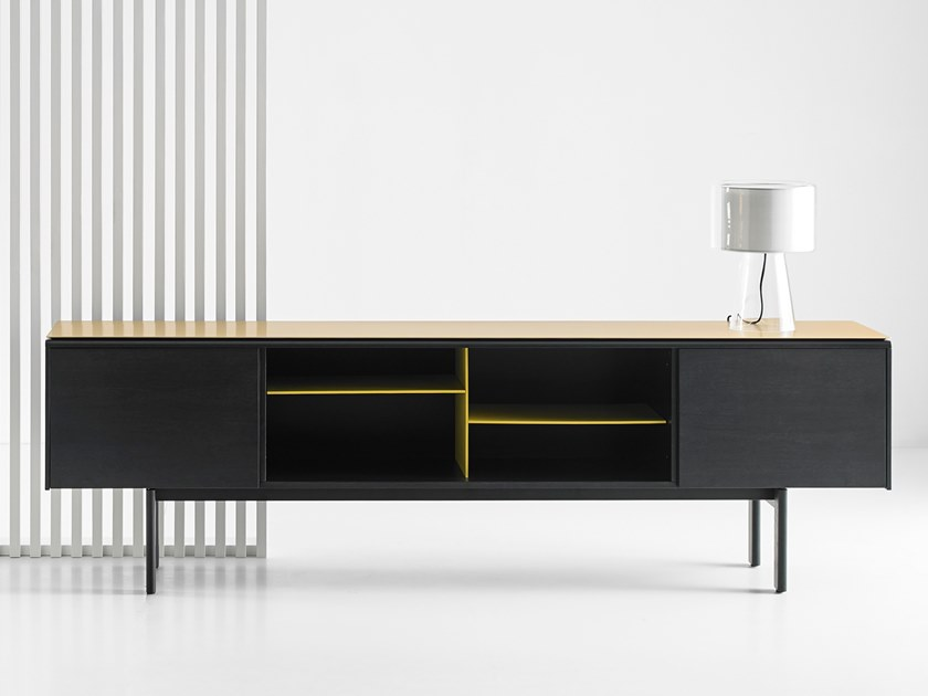 Lacquered sideboard with flap doors MLM411 | Sideboard by Punt