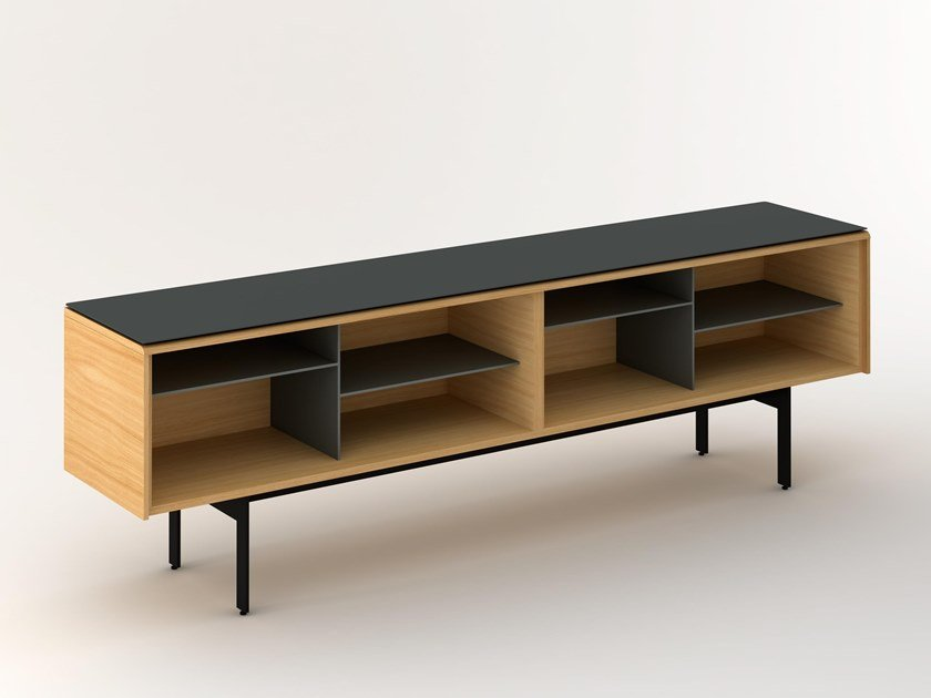 Lacquered sideboard with flap doors MLM413 | Sideboard by Punt