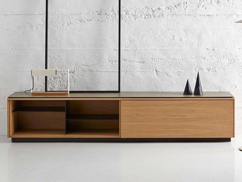 Lacquered sideboard with flap doors MLM414 | Sideboard by Punt