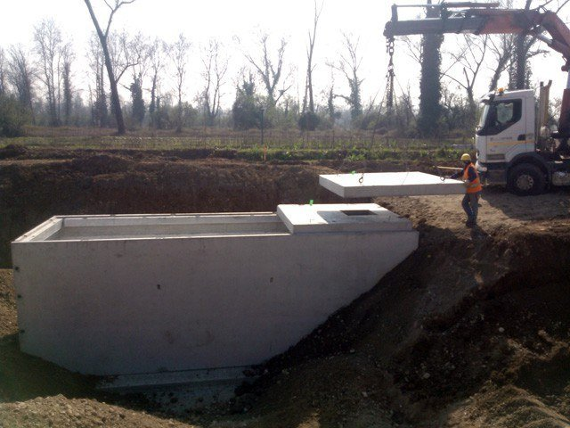 Basin, cistern and tank for water works MNB-S by Betoncablo