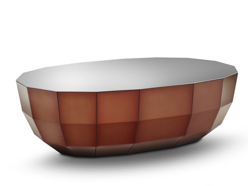 Oval coffee table MO 09 by müller möbelfabrikation