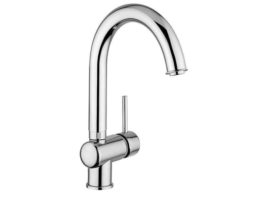 Single handle kitchen mixer tap with swivel spout FUTURO - F6524 by Rubinetteria Giulini