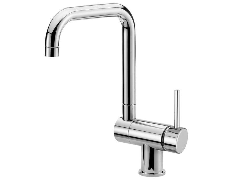 Countertop single handle kitchen mixer tap FUTURO - F6530 by Rubinetteria Giulini