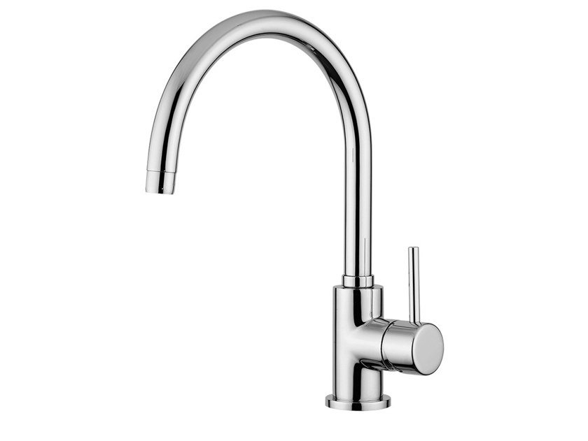 Countertop kitchen mixer tap with swivel spout FUTURO - F6580 by Rubinetteria Giulini