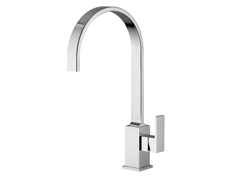 Countertop kitchen mixer tap with swivel spout PABLOLUX  - F9820P by Rubinetteria Giulini