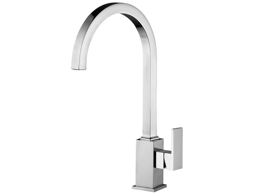 Countertop kitchen mixer tap with swivel spout PABLOLUX - F9820Q by Rubinetteria Giulini