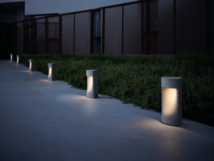 LED bollard light MOAI B/35 OUTDOOR by BOVER