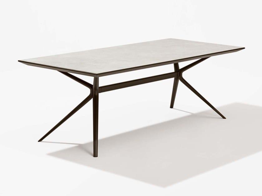 Rectangular porcelain stoneware garden table MOAI | Porcelain stoneware table by FAST