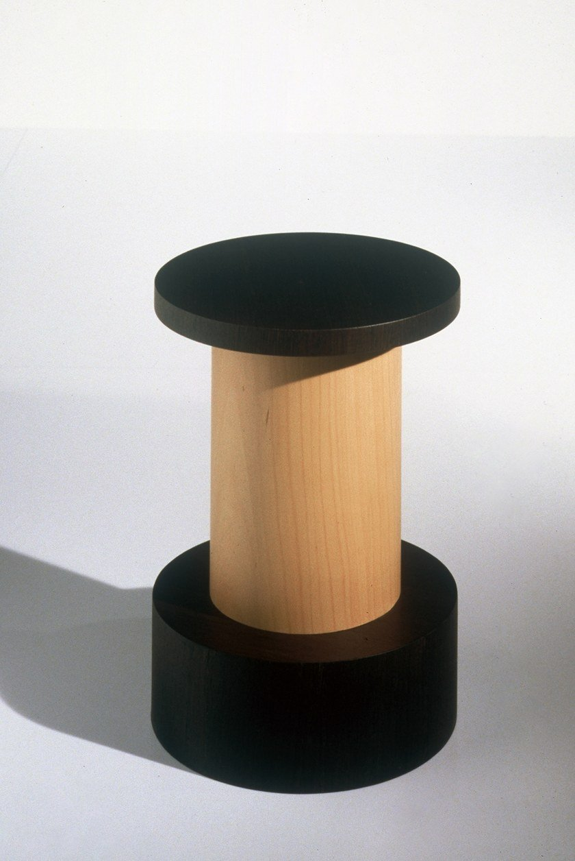 Round wooden coffee table Mobile 5-E by OAK