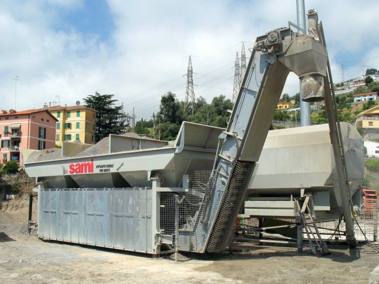 Control system for dosage and mixing mobile dry batching plant TECNO by SAMI