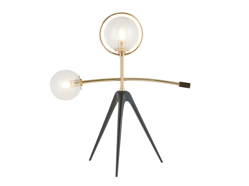 LED brass table lamp MOBILE by Green Apple