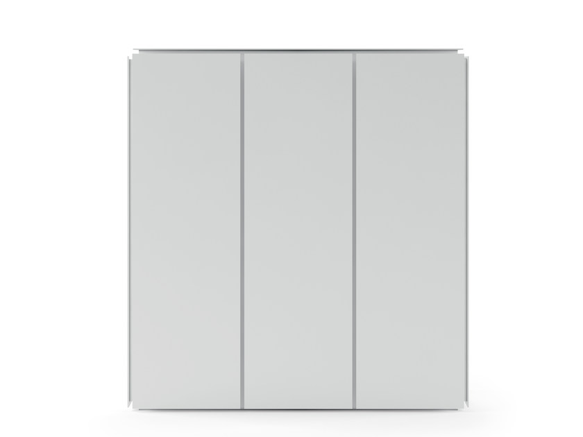 Extruded aluminium highboard with doors MOBILE ZERO 135X135 - M09 by Alias