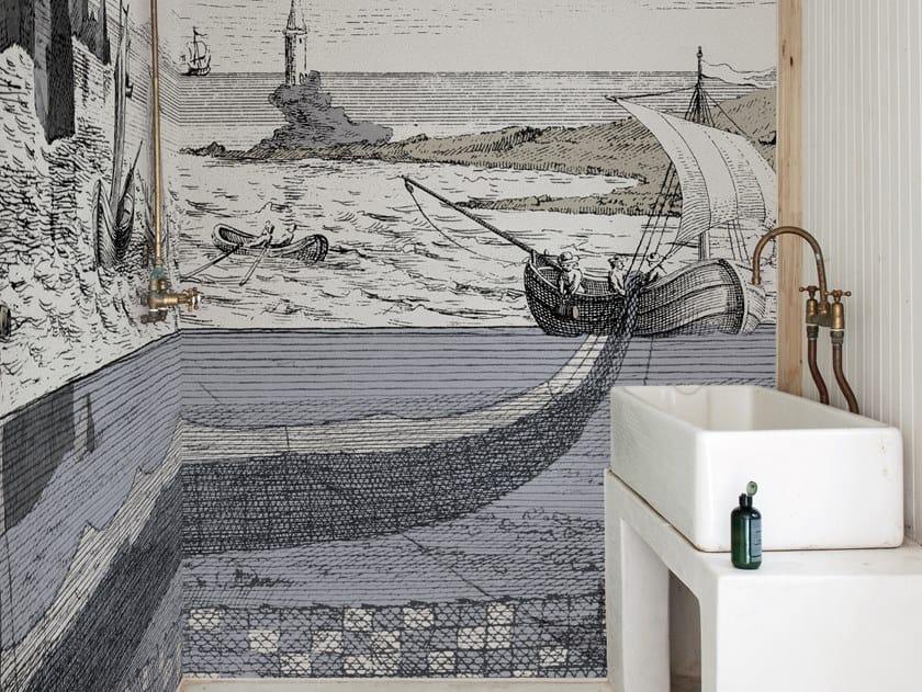 Bathroom wallpaper MOBILIS IN MOBILI by Wall&decò
