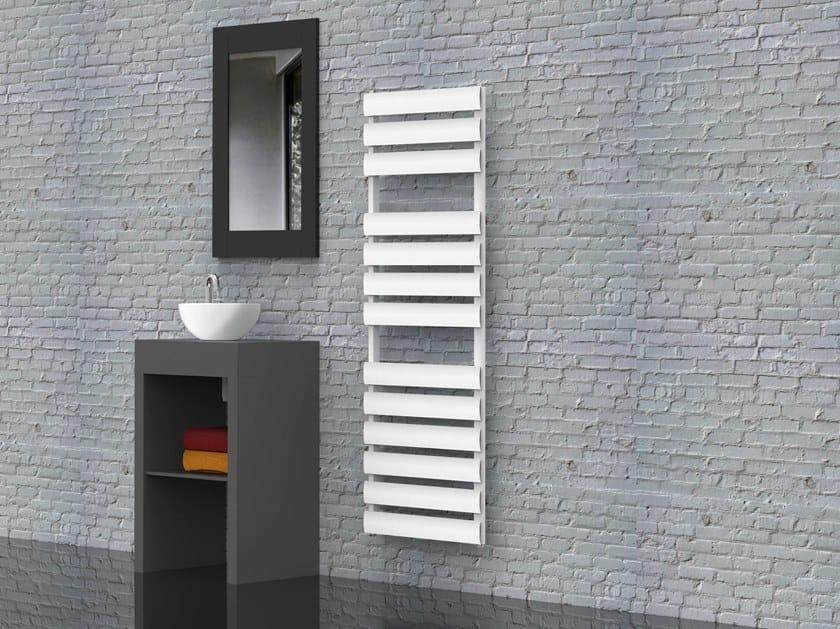 Wall-mounted aluminium towel warmer MODENA by RIDEA