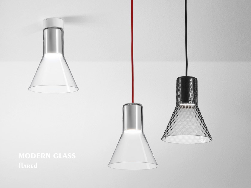 Modern glass led flared pendant lamp modern glass led collection led glass pendant lamp modern glass led flared pendant lamp by aqform aloadofball Images