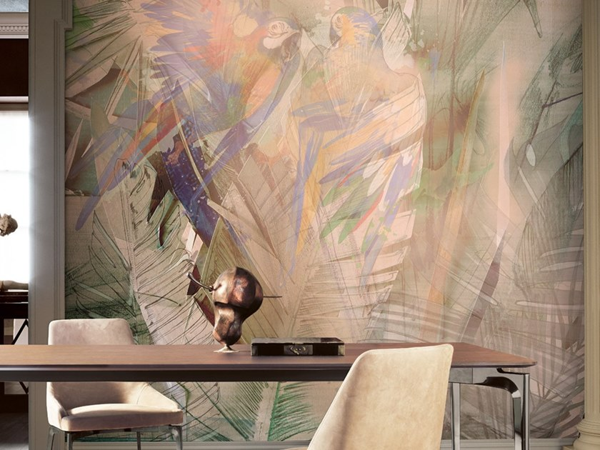 Ecological washable PVC free wallpaper MODERN JUNGLE by Wallpepper