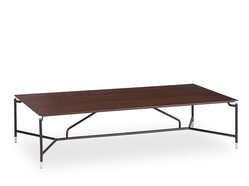 Low rectangular wood veneer coffee table MODEST | Rectangular coffee table by B&T Design