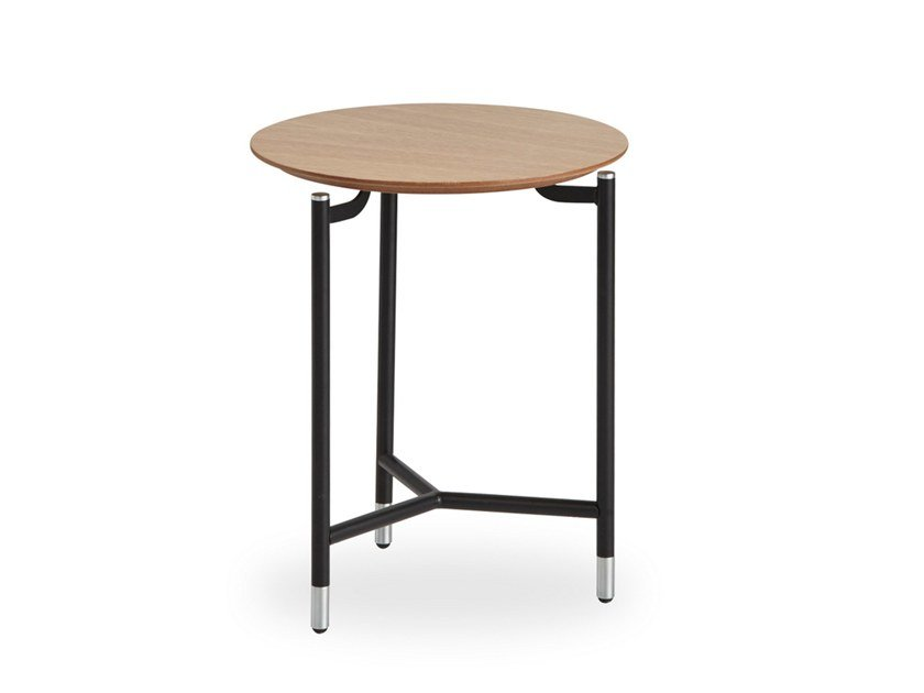 Round wood veneer side table MODEST | Round coffee table by B&T Design
