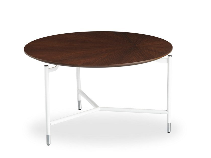 Round Wood Veneer Coffee Table Modest By B T Design