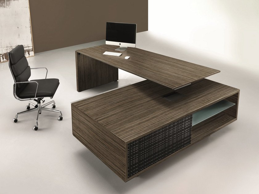 Glass Executive Desk With Drawers Modi Office Collection By Ultom