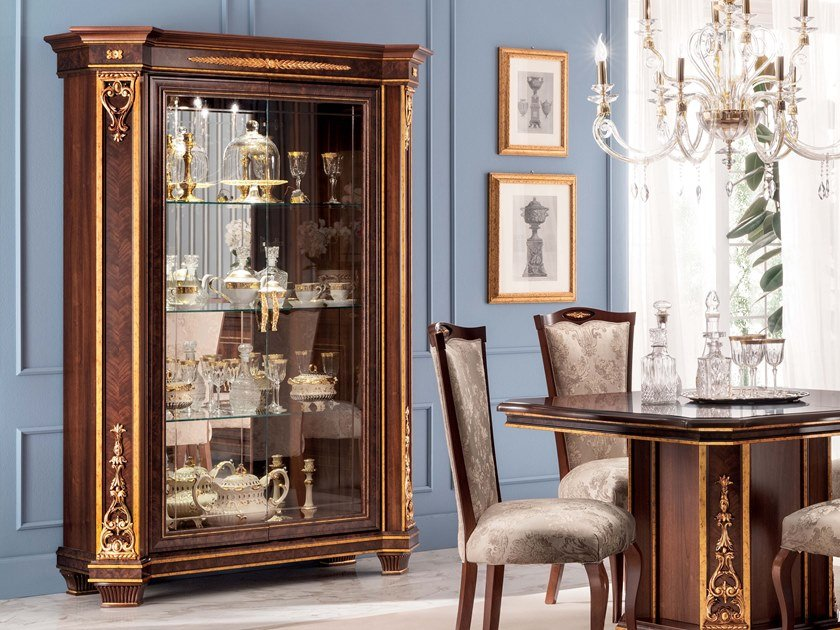 Wood and glass display cabinet MODIGLIANI   Display cabinet by Arredoclassic