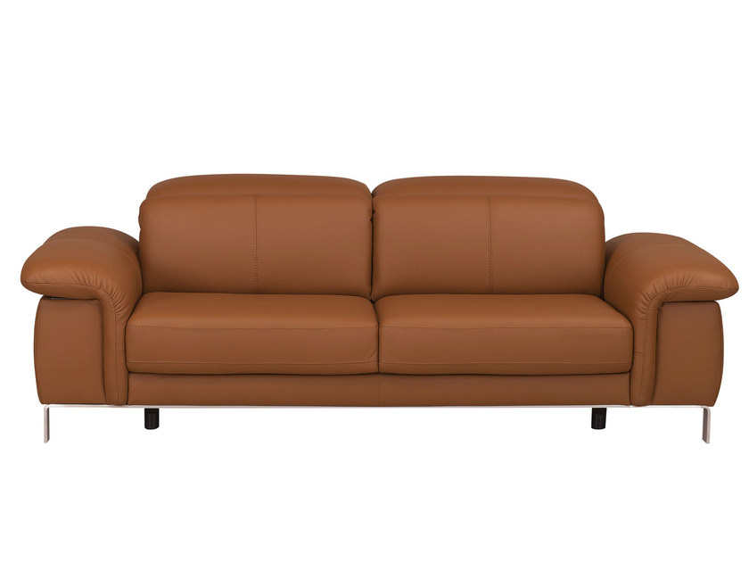 Upholstered leather sofa with headrest MODULA | Sofa by GAUTIER FRANCE