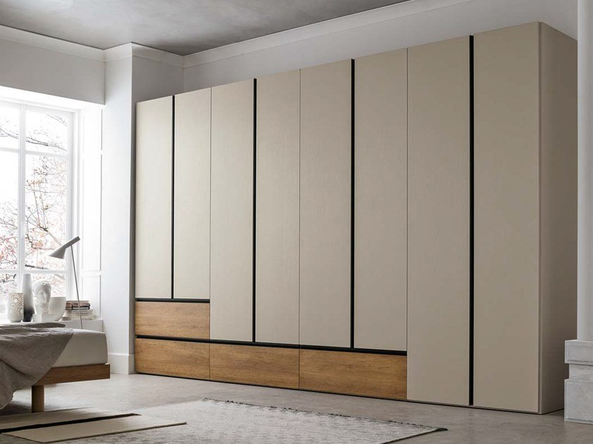 Sectional wardrobe with drawers MODULA by Gruppo Tomasella