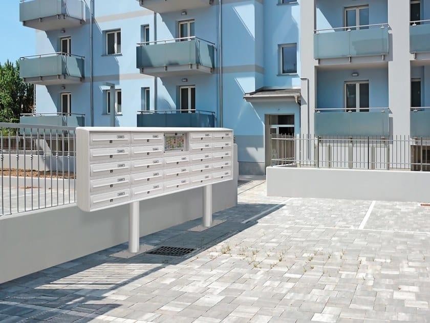 Freestanding aluminium mailbox MODULAR | Freestanding mailbox by Alubox
