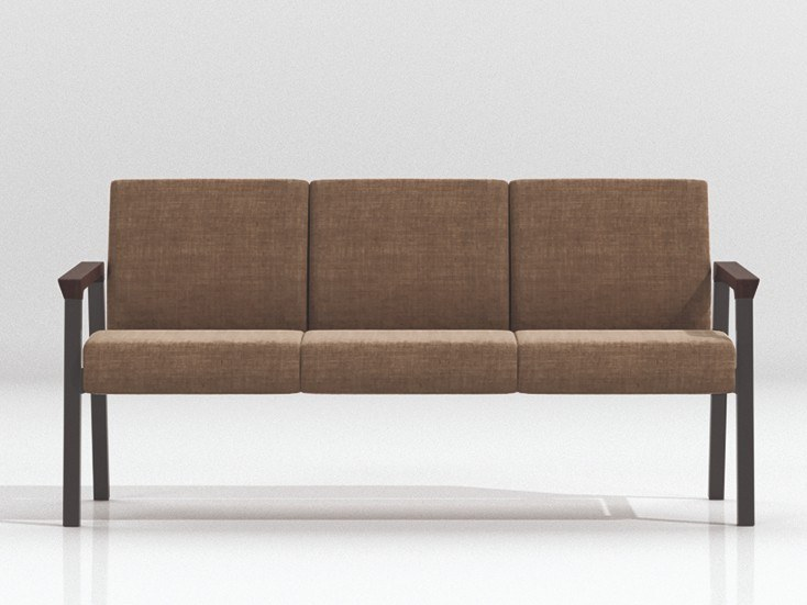 Panca con schienale con schienale STRING   Panca modulare by Linea Fabbrica