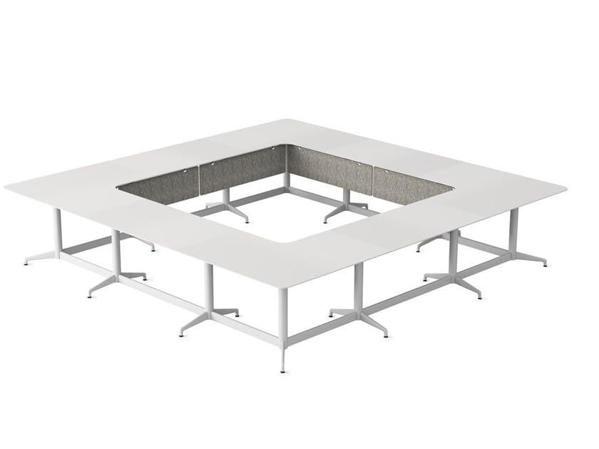 Modular square meeting table CIVIC   Modular meeting table by Herman Miller