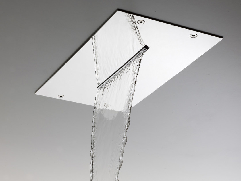 Extra flat stainless steel waterfall shower MODULAR F2810 by FIMA Carlo Frattini