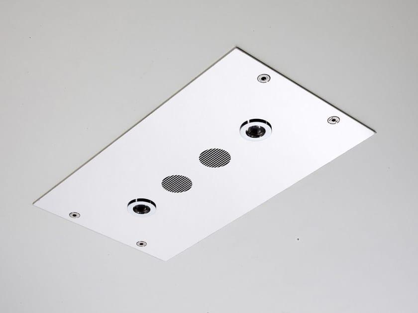 Soffione a soffitto ultrapiatto in acciaio inox MODULAR F2820 by FIMA Carlo Frattini