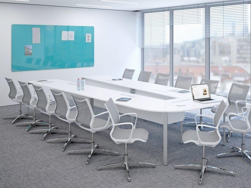 Modular meeting table SLIM | Modular meeting table by La Manufacture du Design