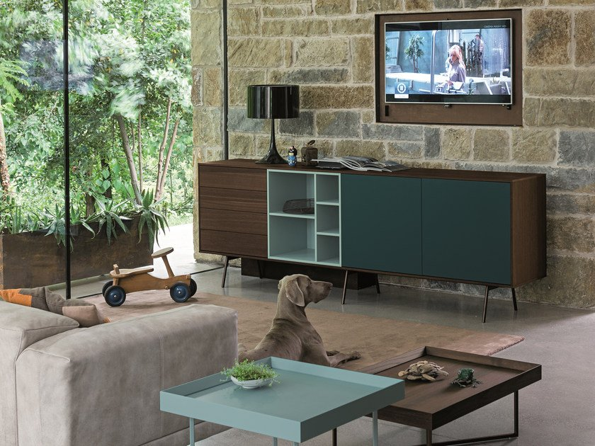 Modular wooden sideboard CODE | Modular sideboard by Dall'Agnese