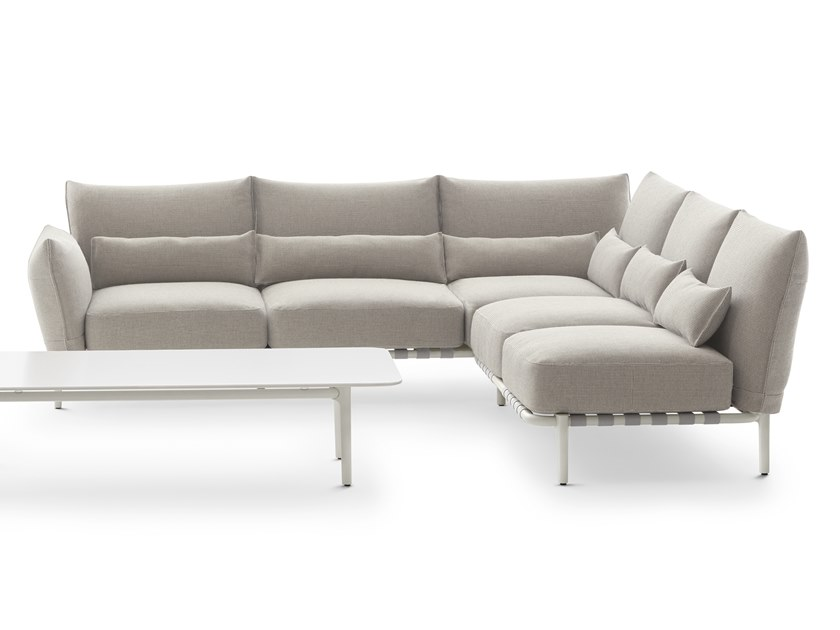 Corner fabric sofa with removable cover BREA | Modular sofa by DEDON