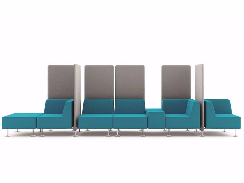 Modular fabric sofa WALL IN | Modular sofa by profim