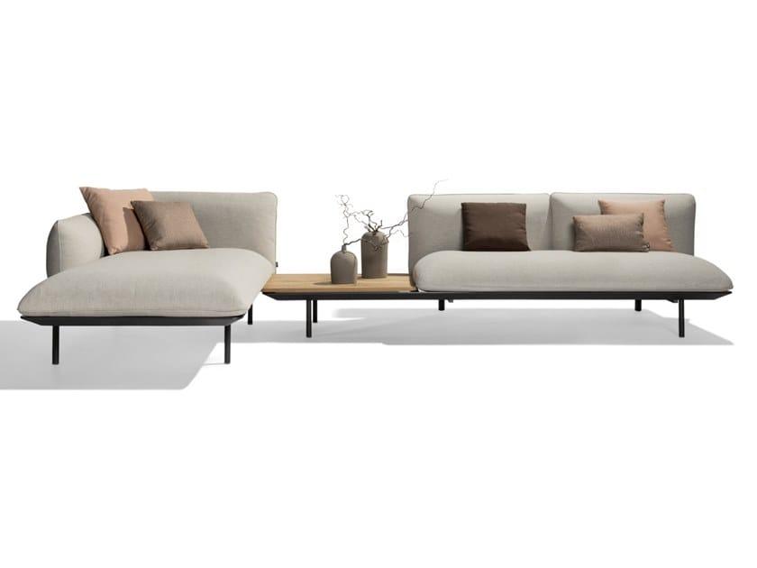 Corner modular fabric garden sofa SENJA | Modular garden sofa by TRIBÙ