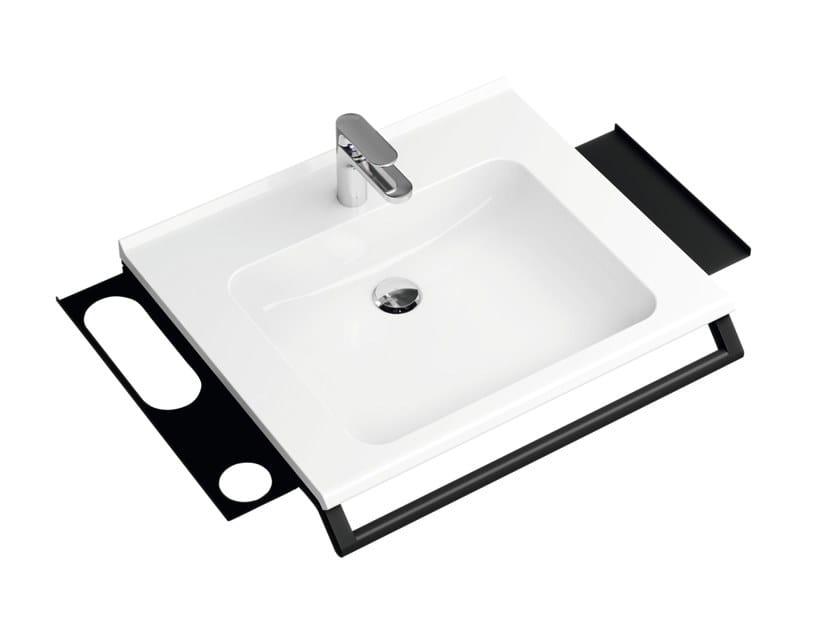 Stainless steel bathroom wall shelf MODULAR SYSTEM | Bathroom wall shelf by HEWI