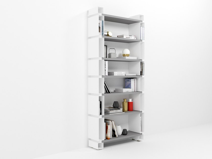Wall-mounted modular plate bookcase MODULO by Barel