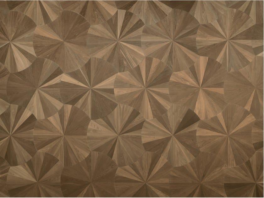 Pavimento geometrico in legno MODULO DESIGN VENTAGLIO by FOGLIE D'ORO