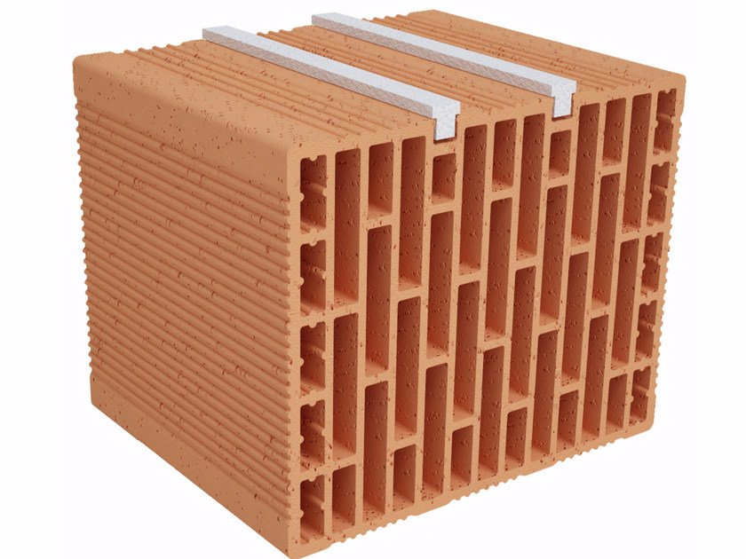 Clay building block Modulo FO Plus MO300 plus by Fornaci Ioniche