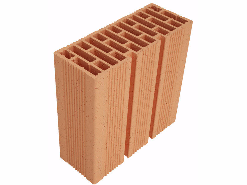 Clay block for internal partition Modulo FO Plus MO30012 by Fornaci Ioniche
