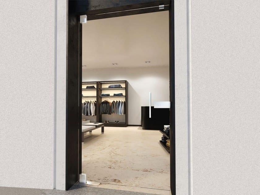 Glass door hinge Square Module by Metalglas Bonomi