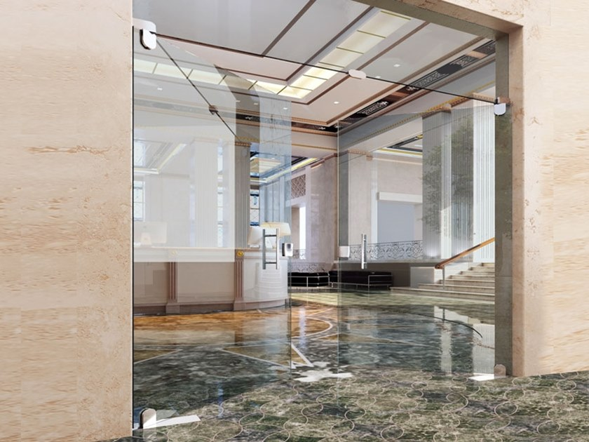 Cerniera per porte in vetro Modulo tondo by Metalglas Bonomi