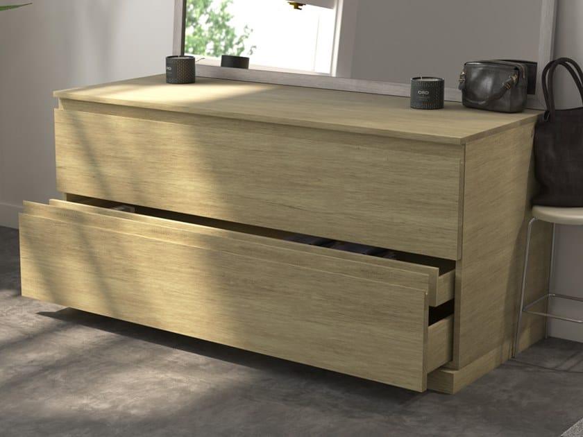 Modulo Wood Oak Bathroom Cabinet